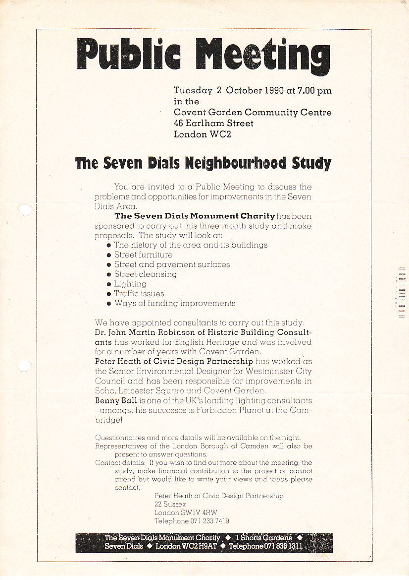 Notification of the Environmental Study Consultation Group meeting in 1990