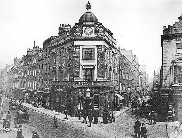 c1895 The Crown public house looking north.