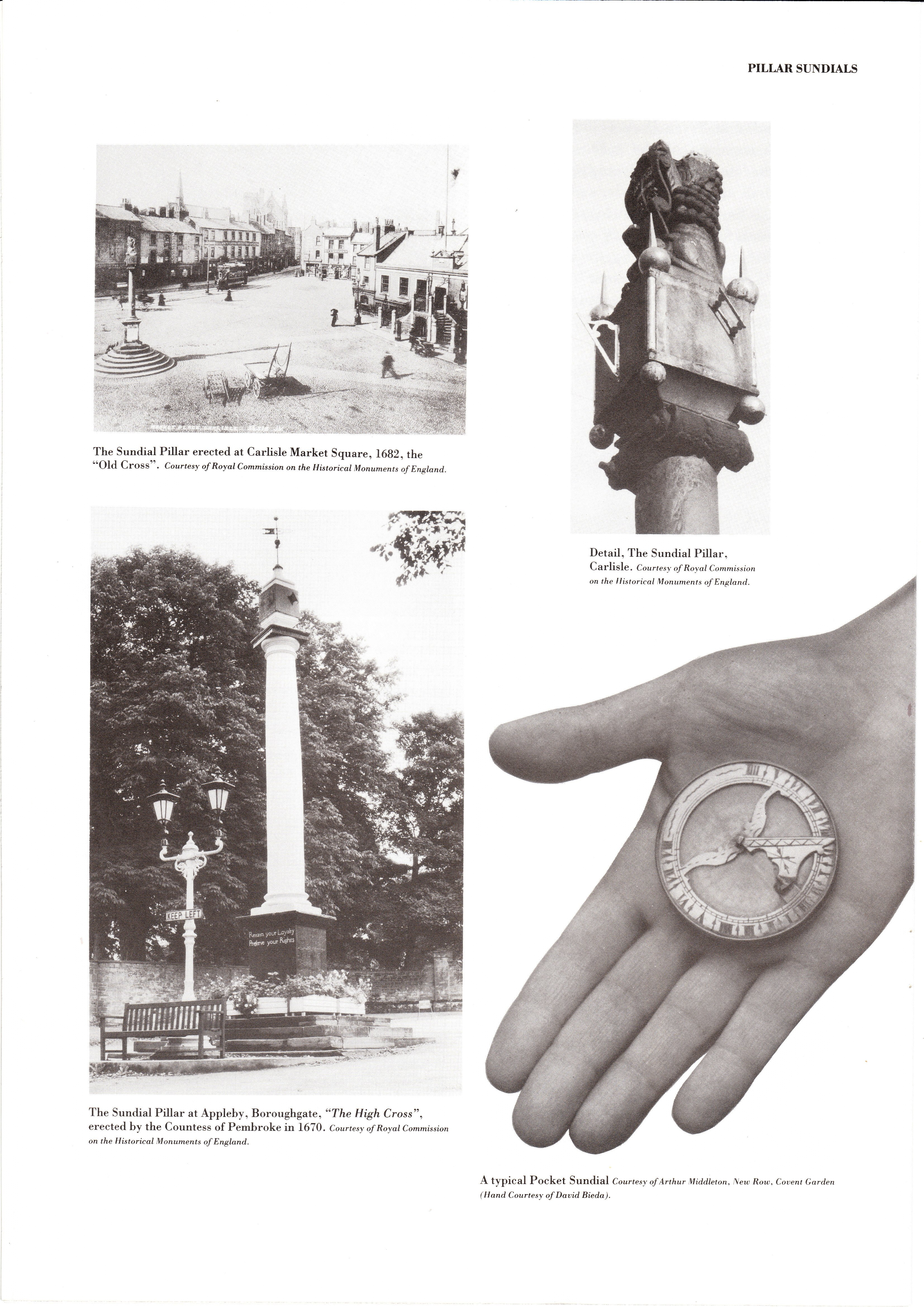 Pillar Sundials from 'The Seven Dials' by founder trustee, the late Sir John Summerson, founder trustee