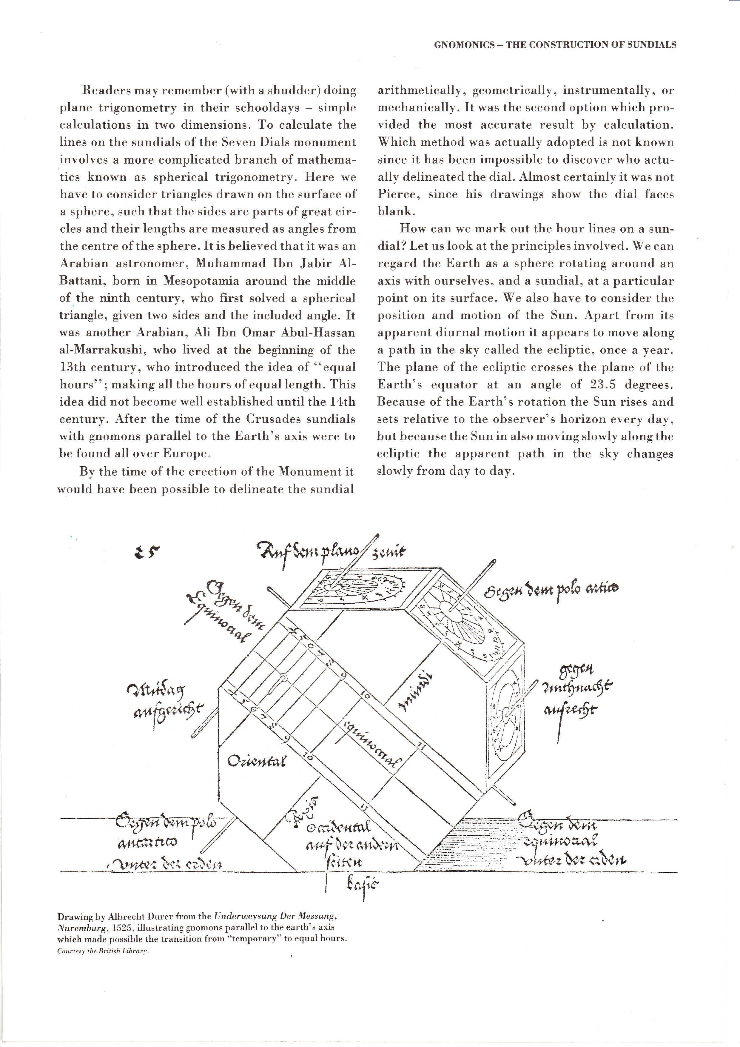 'Gnomonics – The Construction of Sundials' from 'Seven Dials'