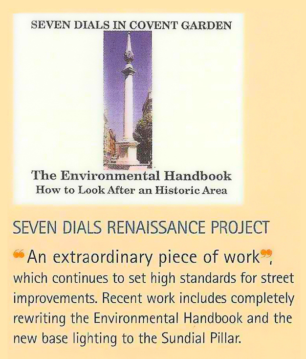 1998 Camden Design Awards::Awarded for the second edition of the Seven Dials Renaissance Study.