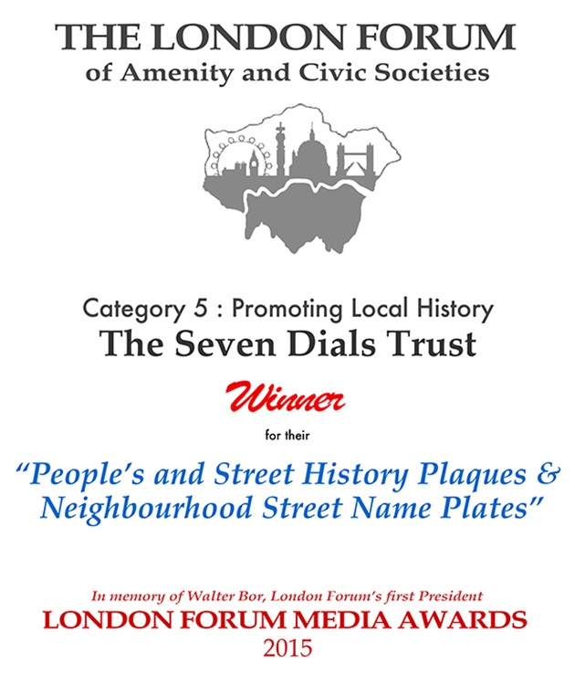 2015 London Forum Awards::The citation was - 'An absolutely brilliant and wide ranging scheme…'