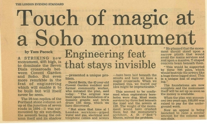 1987—Touch of Magic at a Soho Monument