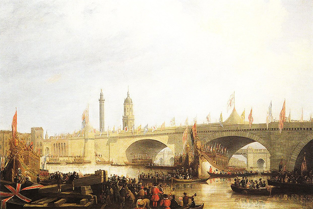 Opening of London Bridge by William IV, 1831
