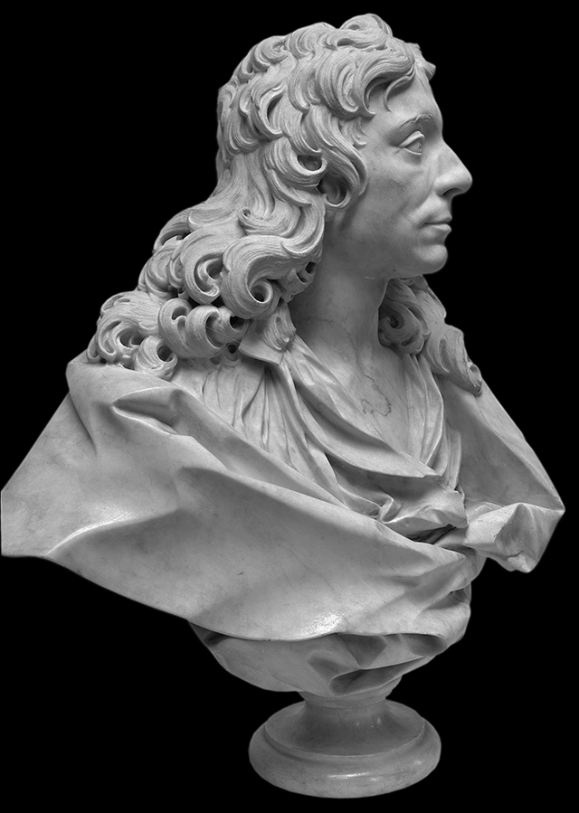 Portrait bust of Sir Christopher Wren, courtesy of Ashmolean Museum, Oxford.