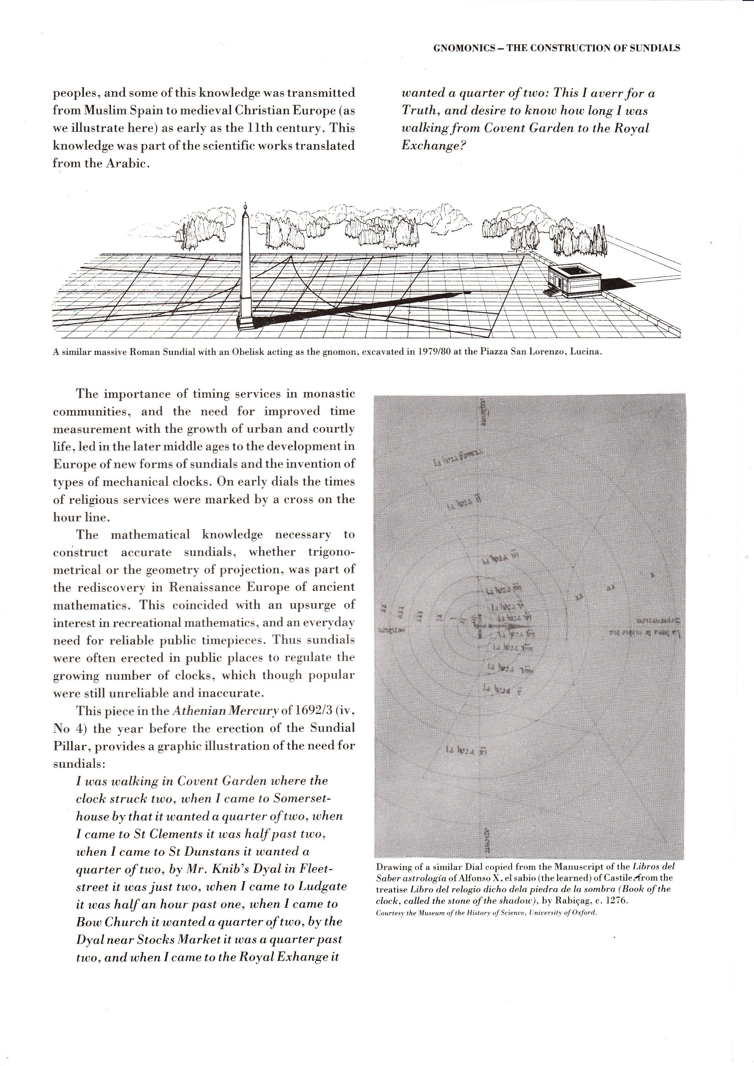 �Gnomonics � The Construction of Sundials� from �Seven Dials�