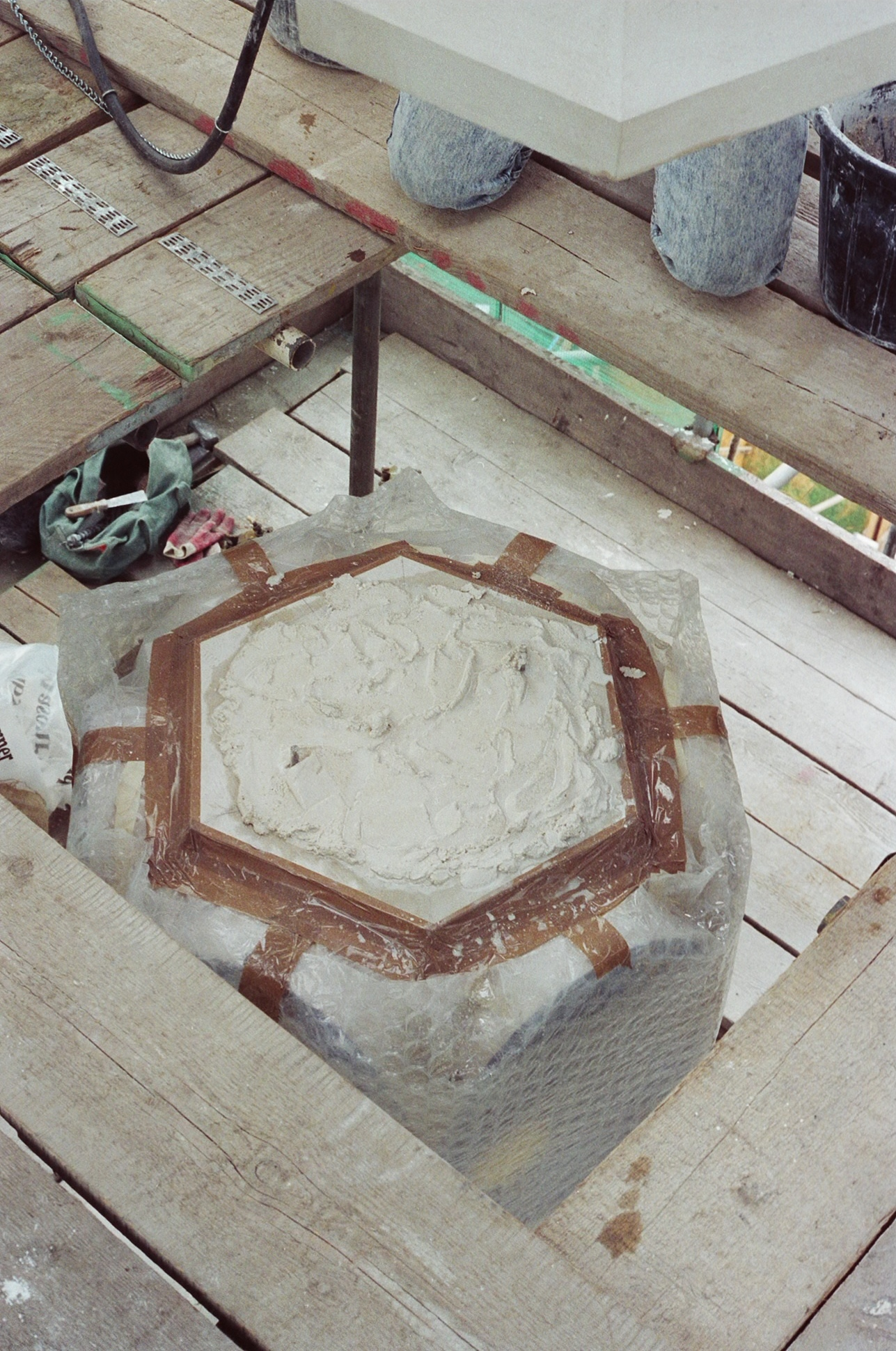 Top of Dialstone ready for Vase stone.