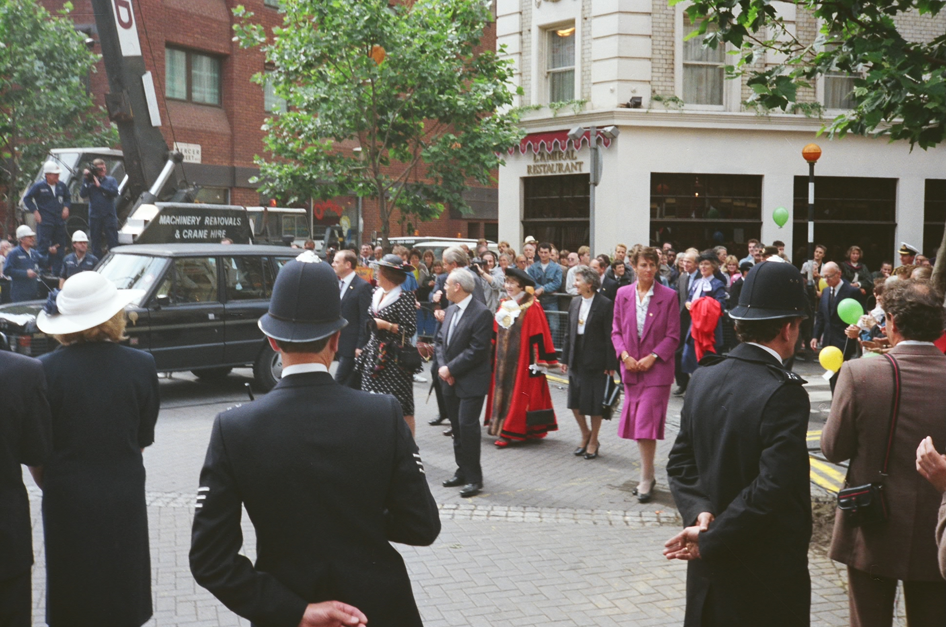 HM Queen Beatrix of The Netherlands and Prince Claus arrive.