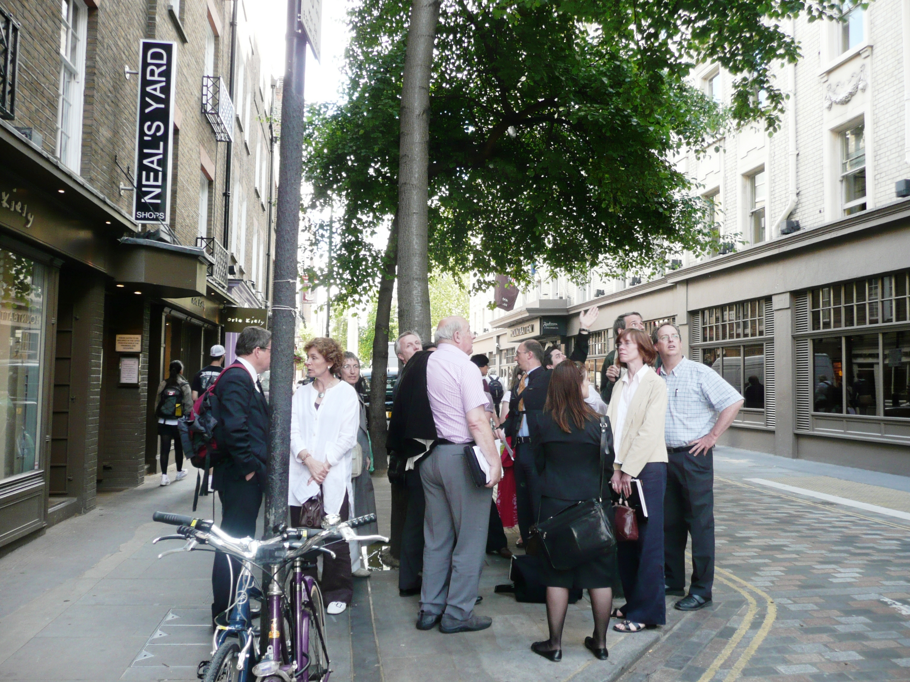 Delegation from Cambridge City Council on site visit to Monmouth Street.