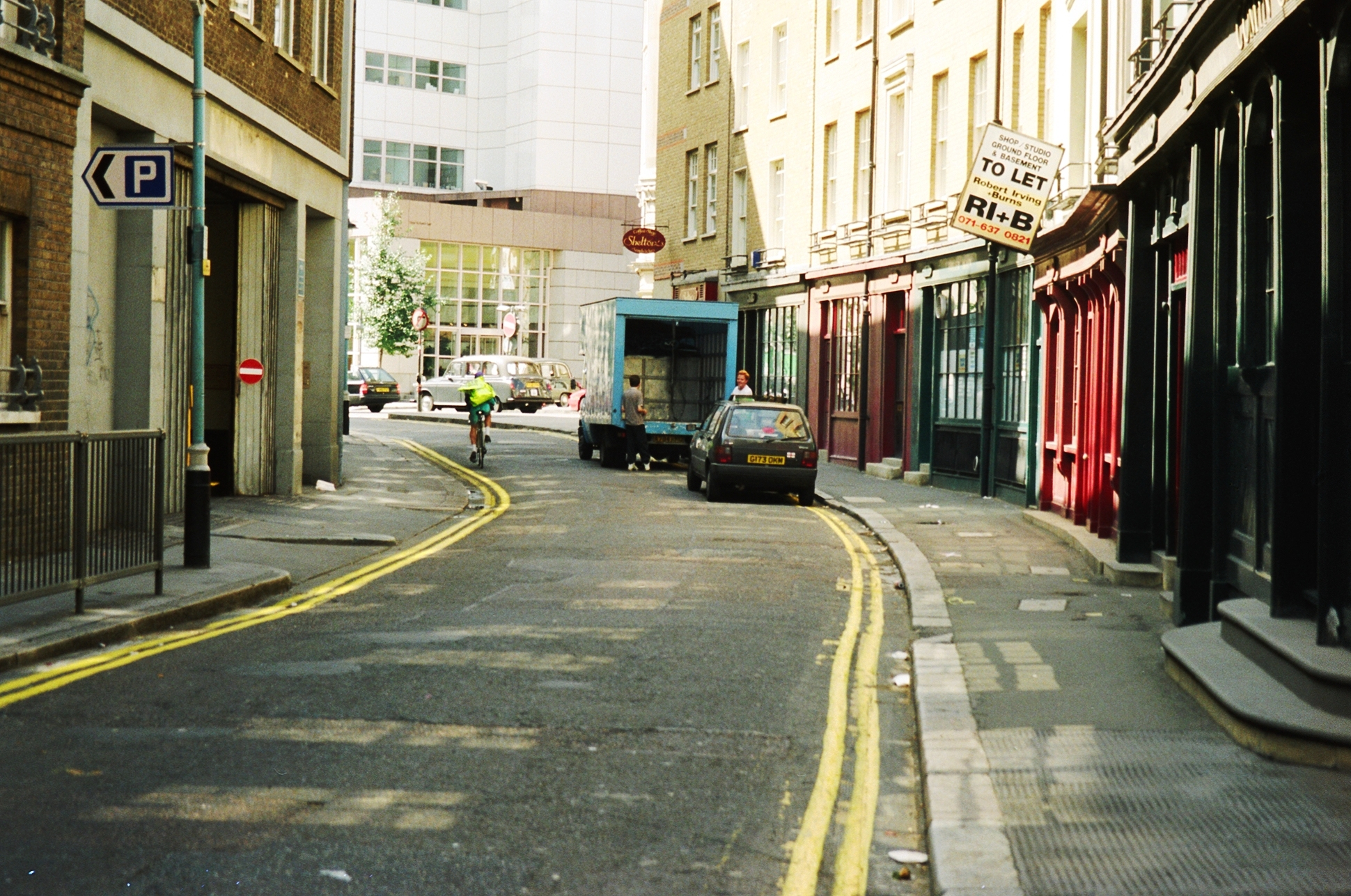 Shelton Street before the 2012-13 works.