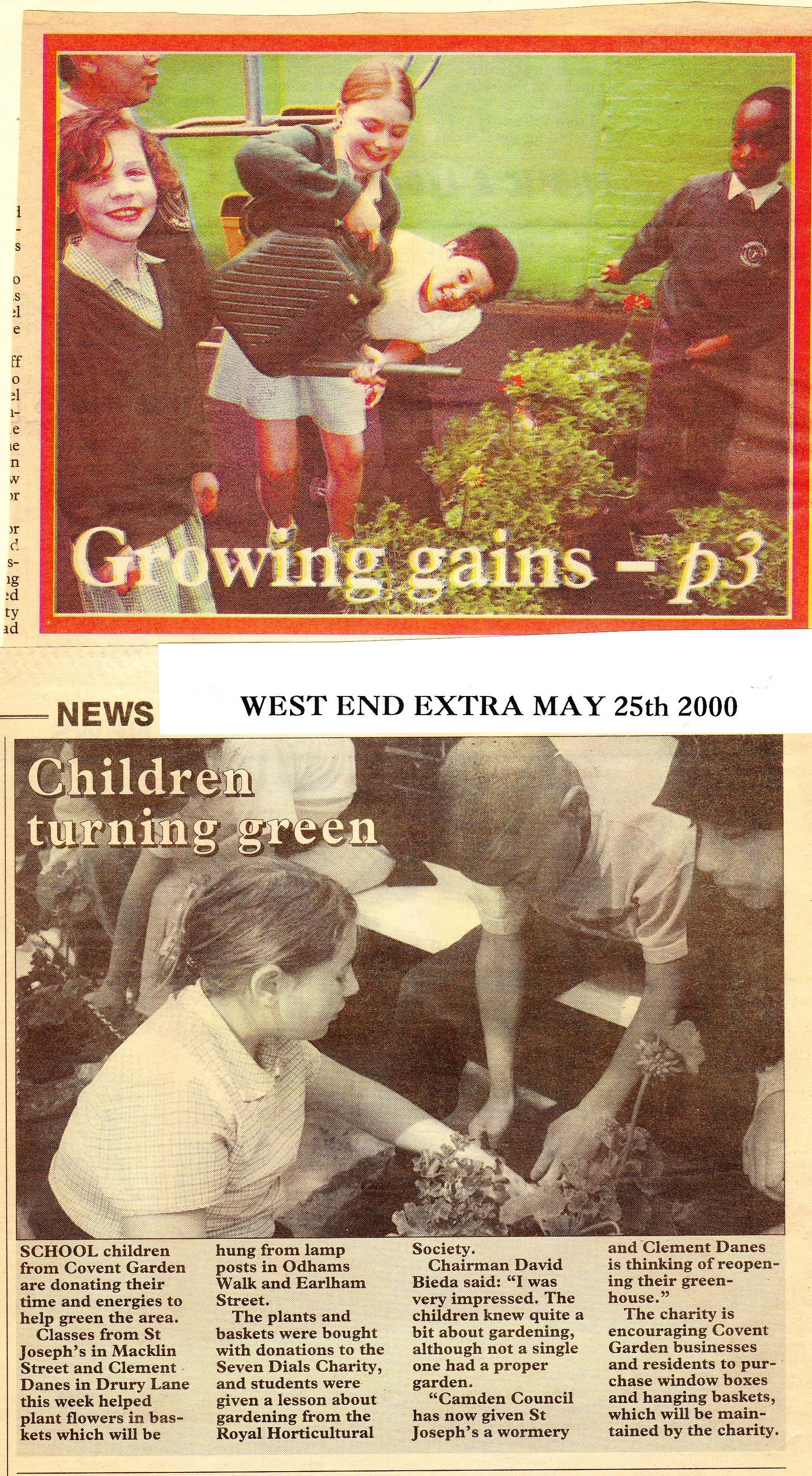 Press coverage of the Millennium Greening Project (03).
