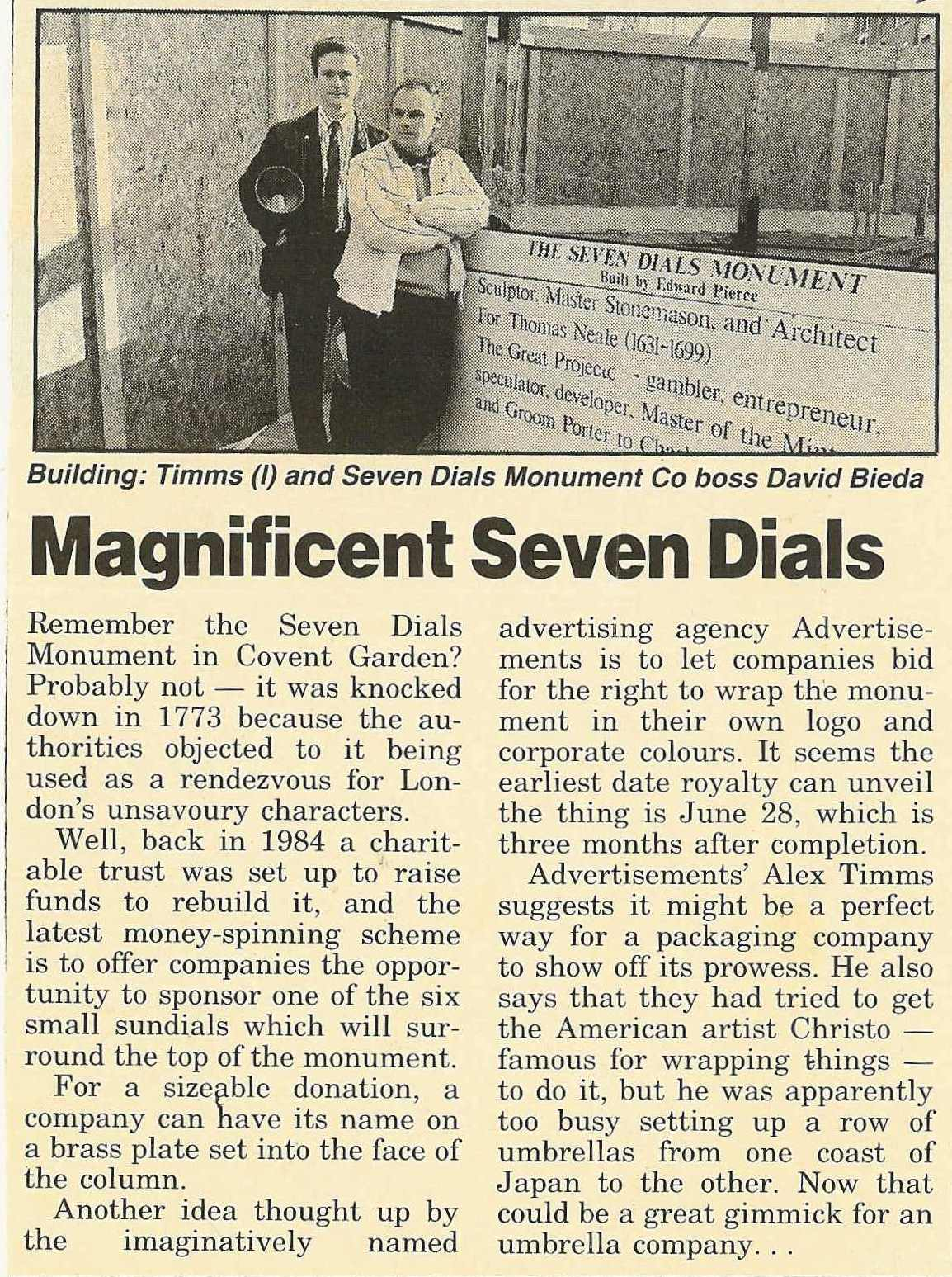 10 Jan. 1989 – Marketing Week: The Magnificent Seven Dials.
