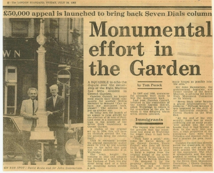 1985—Monumental effort in the Garden