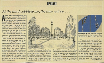 1989—At the third cobblestone, the time will be ...